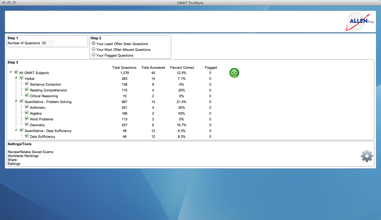 GMAT & GRE TestBank, Online Tutoring